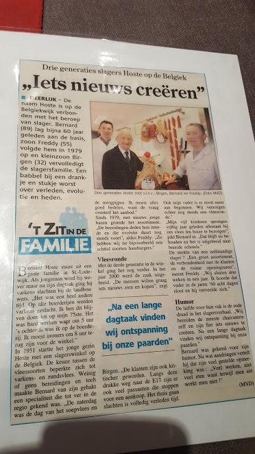artikel familie hoste slagerij belgiek